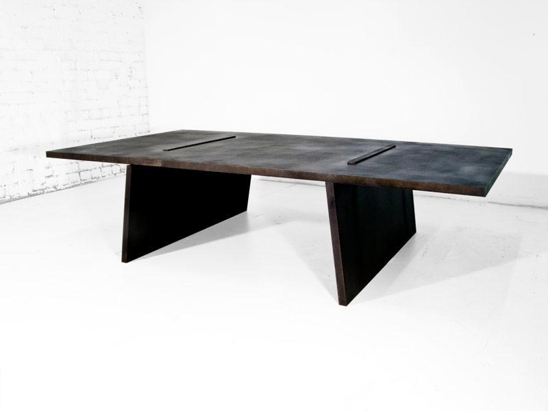 #528. LOW TABLE, blackened steel