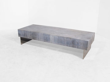 #243. LOW TABLE, concrete, brushed stain