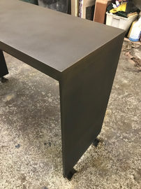 #499. CONSOLE, blackened steel (detail)