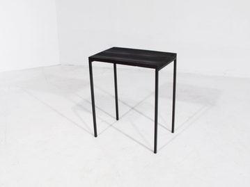 #285. SIDE TABLE, textured wood, blacken