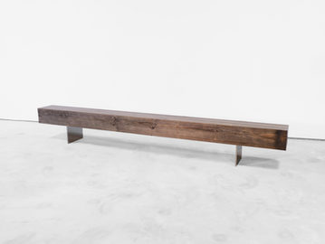 #649. BENCH, pressed wood, stainless ste
