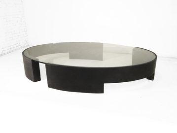 #572. LOW TABLE, concrete, glass
