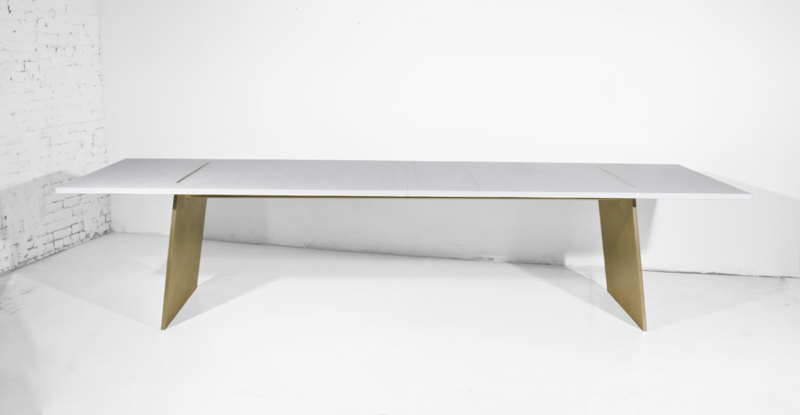 Angled Plate Leg Dining Table #515.web
