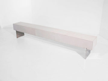 #291. BENCH, skin, mirrored stainless st