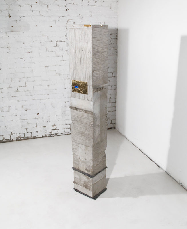 NORTH EAST #1. concrete, gold leaf, lead, video 2016