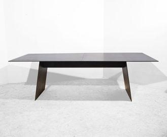 #463, TABLE, blackened steel