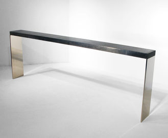 #39. CONSOLE, concrete, mirrored stainle