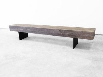 #644. BENCH, pressed wood, bronze