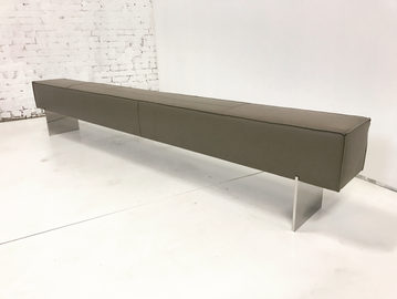 #536. BENCH, skin, brushed stainless ste
