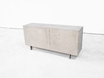 #645. LOW TABLE, concrete, bronze