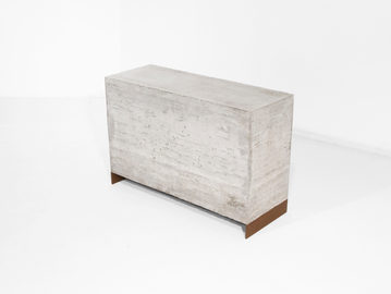 #121. SIDE TABLE, concrete, weathered st