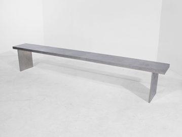 #221. BENCH, mirrored cast aluminum