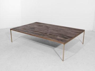 #149. LOW TABLE, wood, bronze