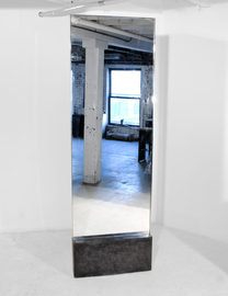 #143. MIRROR, concrete, mirrored stainle