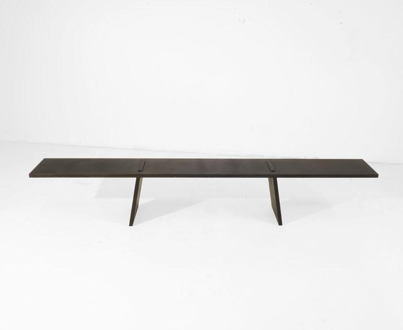 #564. BENCH, blackened steel