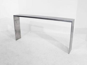 #217. CONSOLE, mirrored cast aluminum