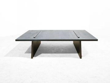 #455. LOW TABLE, blackened steel