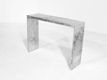 #125. CONSOLE, weathered cast aluminum