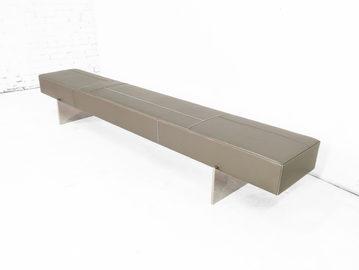 #573. BENCH, skin, brushed stainless ste