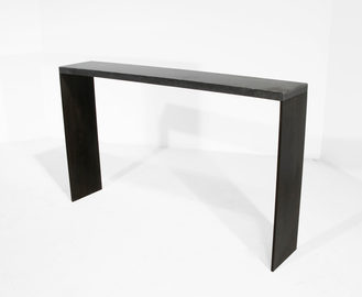 #28. CONSOLE, concrete, blackened steel