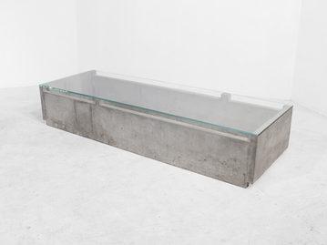 #405. LOW TABLE, concrete, glass