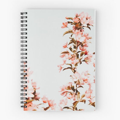 Cherry Blossoms Spiral Notebook Front