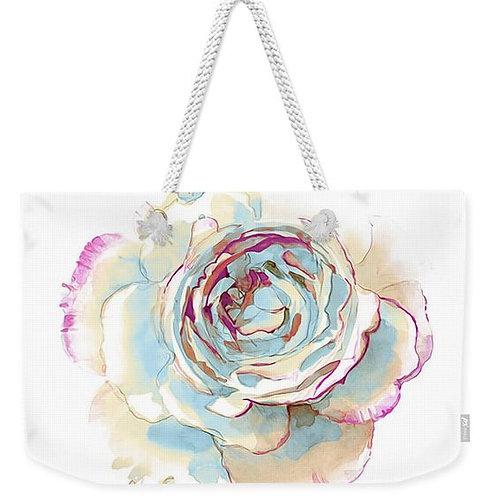Watercolor Rose Weekender Tote
