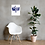 Lake Life #3 Art Print wall art with contemporary chair and fiddle leaf fig