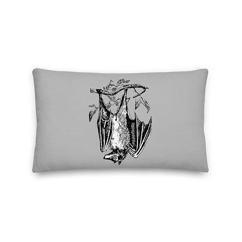 Just Hangin' Around Gray Premium Pillow lumbar