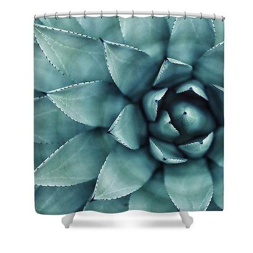 Spotted Succulent Shower Curtain