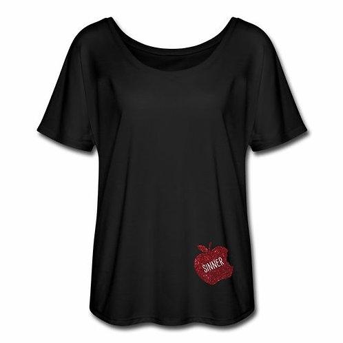 Sinner Flowy T-Shirt black