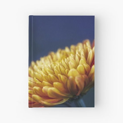 Yellow Chrysanthemum Hardbound Journal Front View