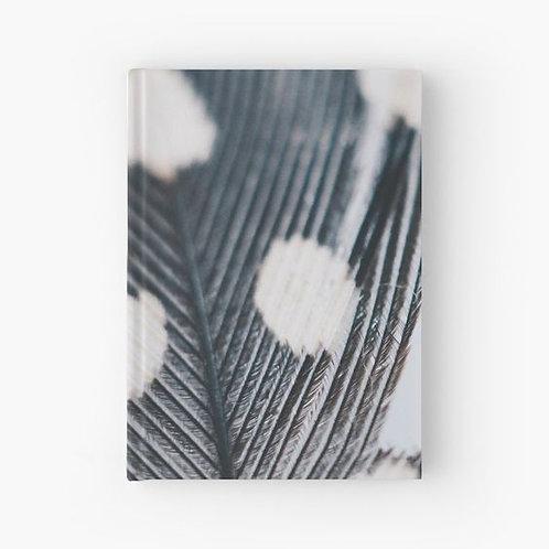 Polka Feather Hardbound Journal