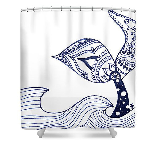 Mermaid Tail Sighting! Shower Curtain