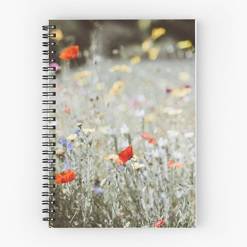 Wildflowers Spiral Notebook Front
