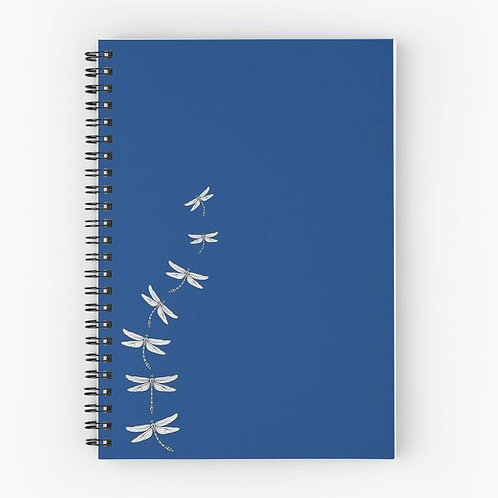 Dancing Dragonflies Spiral Notebook Front