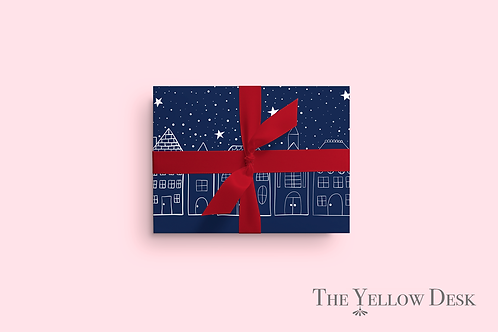 Little Town Gift Wrap pink