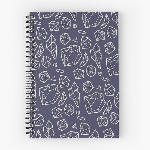 Bling Bling Spiral Notebook Front