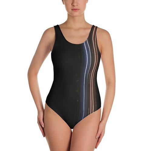 Neon Stripes One Piece Swimsuit