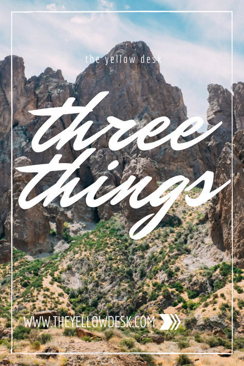Three Things...