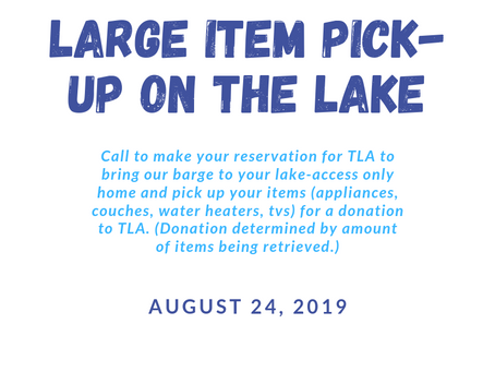 Large Item Pick-Up on the Lake