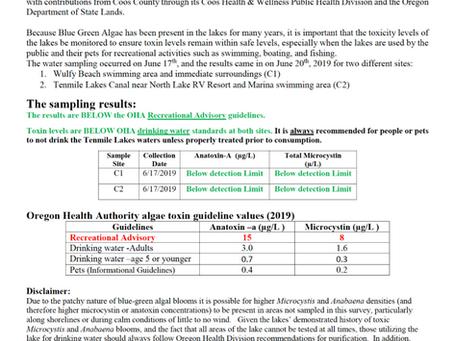 TLBP Toxin Report #1 Summer 2019