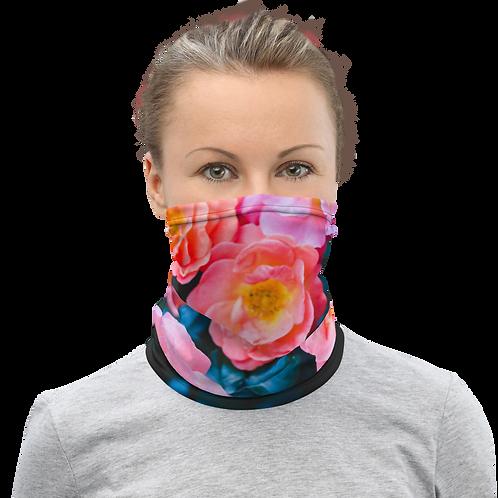 Blushing Rock Roses Gaiter woman mask