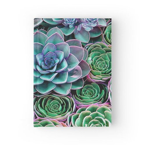 Sea of Succulents Hardbound Journal Front View