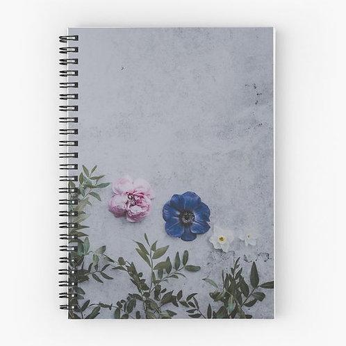 Wallflower II Spiral Notebook Front