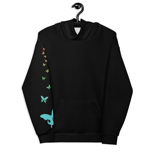Butterfly Unisex Hoodie on hanger front