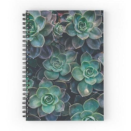 Echeveria Succulents Spiral Notebook Front