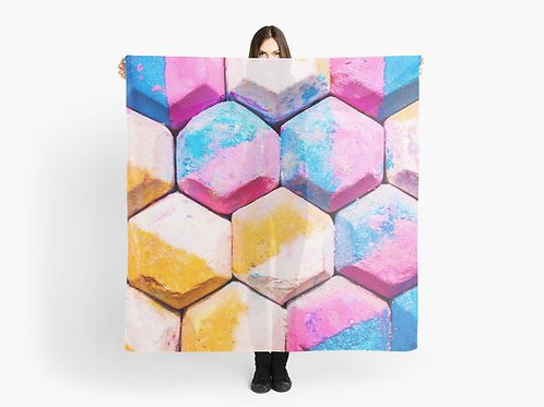 Colorful Chalk Tiles Scarf