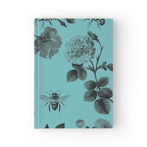 Vintage Roses and Bees Hardbound Journal Front View
