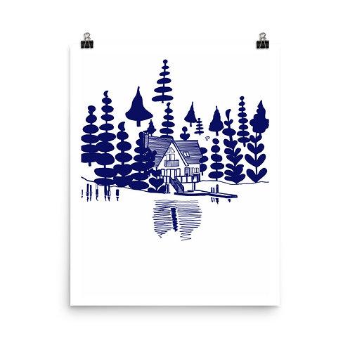 Lake Life #3 Art Print 16x20 inches